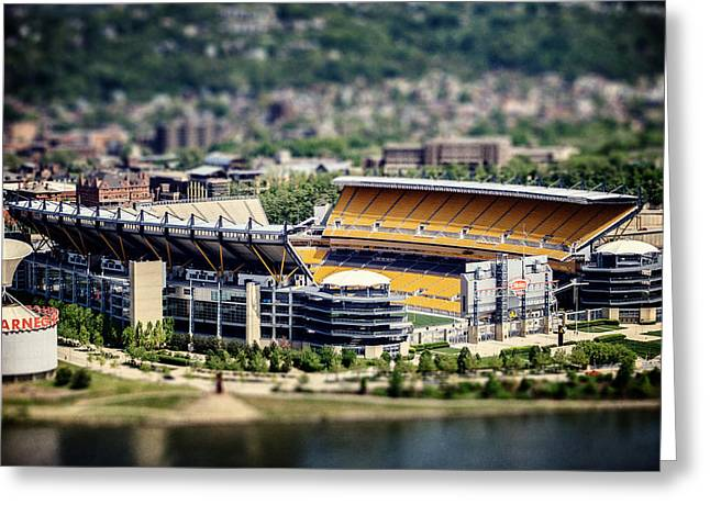 Heinz Field Greeting Cards - Heinz Field Pittsburgh Steelers Greeting Card by Lisa Russo