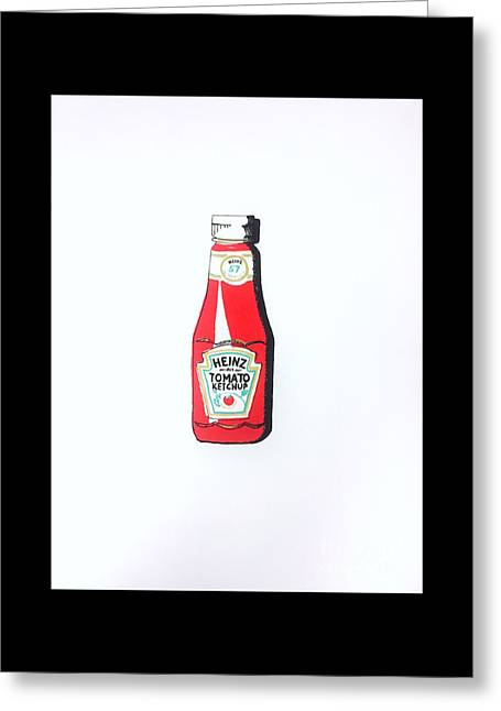 Heinz Ketchup Greeting Card by Rono Stinnett