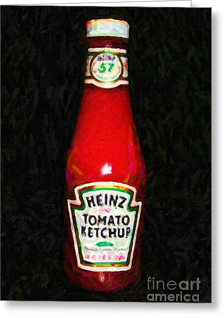 Pop Can Greeting Cards - Heinz Tomato Ketchup Greeting Card by Wingsdomain Art and Photography
