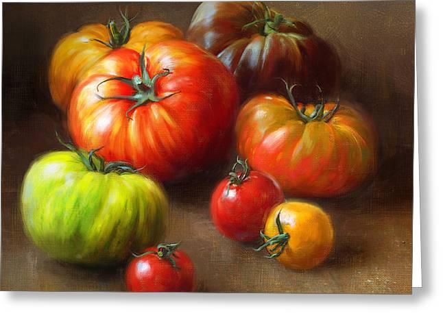 Heirloom Tomatoes Greeting Card by Robert Papp