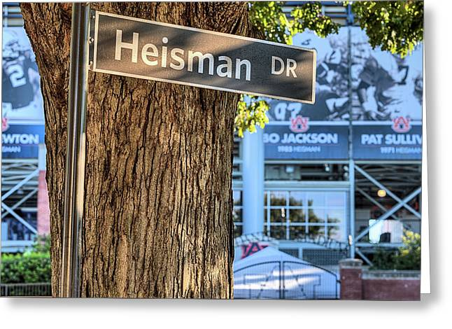 Heisman Drive Greeting Card by JC Findley