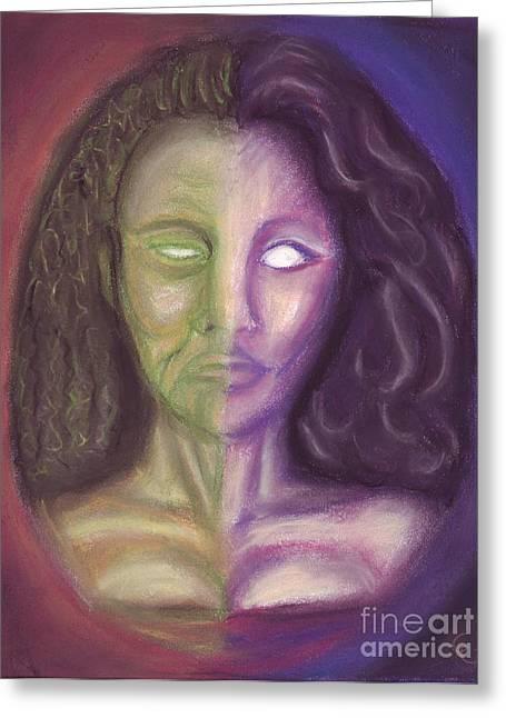 Mythology Pastels Greeting Cards - Hel Greeting Card by Cassandra Geernaert
