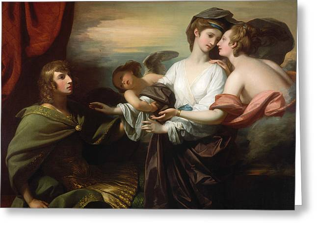 Helen Brought To Paris  Greeting Card by Benjamin West