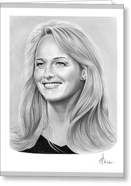 Helen Hunt Greeting Card by Murphy Elliott