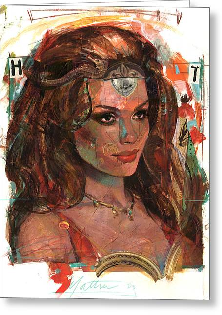 Sea Horse Greeting Cards - Helen of Troy Greeting Card by Bill Mather
