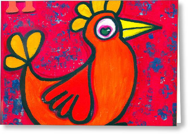 Love The Animal Greeting Cards - Helen The Hen Greeting Card by Kim Magee ART