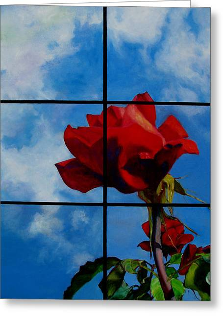 Collaborative Greeting Cards - Helens Rose Greeting Card by Bold Strokes For Art