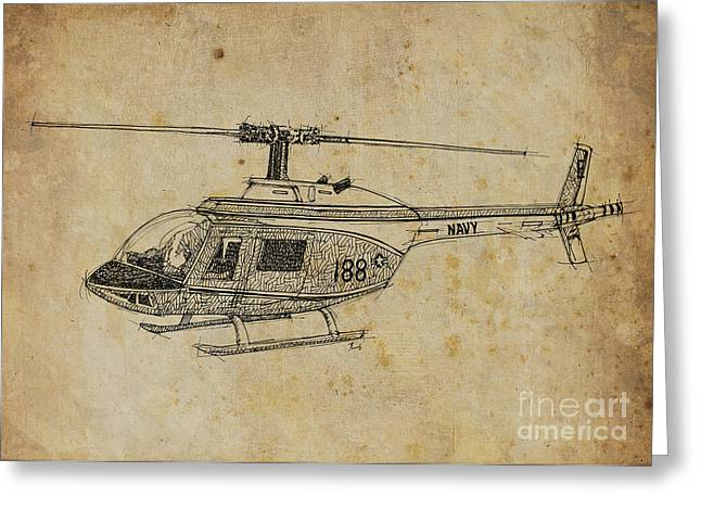 Rescue Mixed Media Greeting Cards - Helicopter 02 Greeting Card by Pablo Franchi