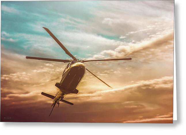 Helicopter Greeting Card by Bob Orsillo