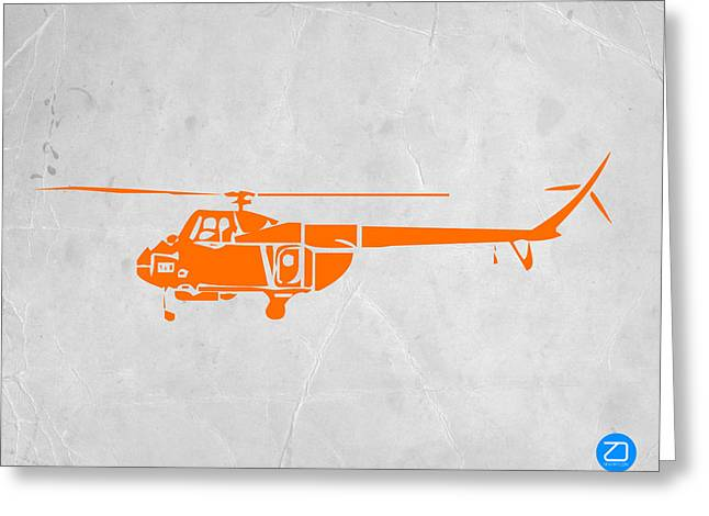 Plane Greeting Cards - Helicopter Greeting Card by Naxart Studio