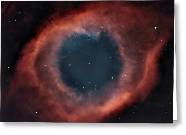 Charles Warren Greeting Cards - Helix Nebula Greeting Card by Charles Warren