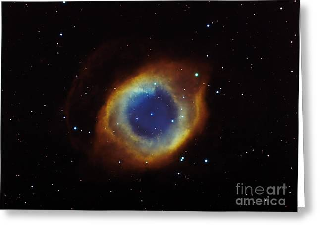 Constellation Greeting Cards - Helix Nebula In Aquarius Ngc 7293 Greeting Card by Filipe Alves