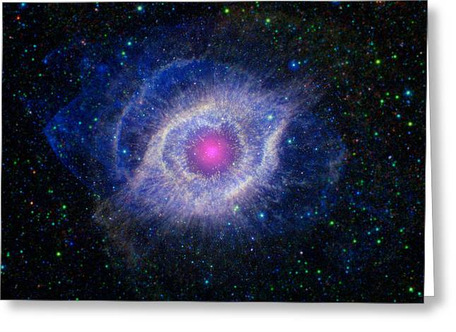 21st Greeting Cards - Helix Nebula, Ngc 7293, Caldwell 63 Greeting Card by Science Source