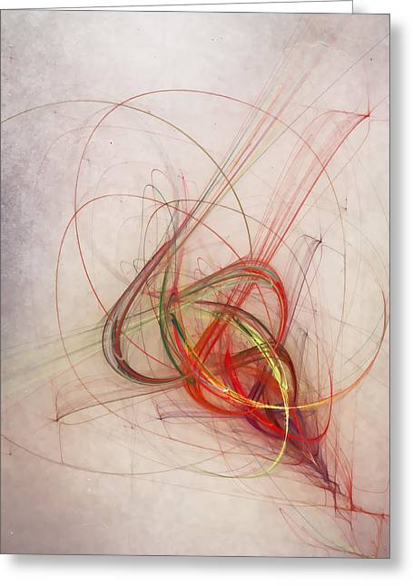 Vertical Digital Art Greeting Cards - Helix Greeting Card by Scott Norris