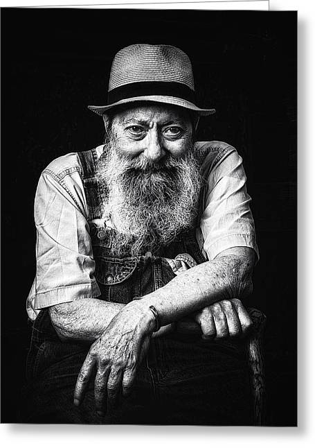 White Beard Greeting Cards - Hell I Was There Greeting Card by Ron  McGinnis
