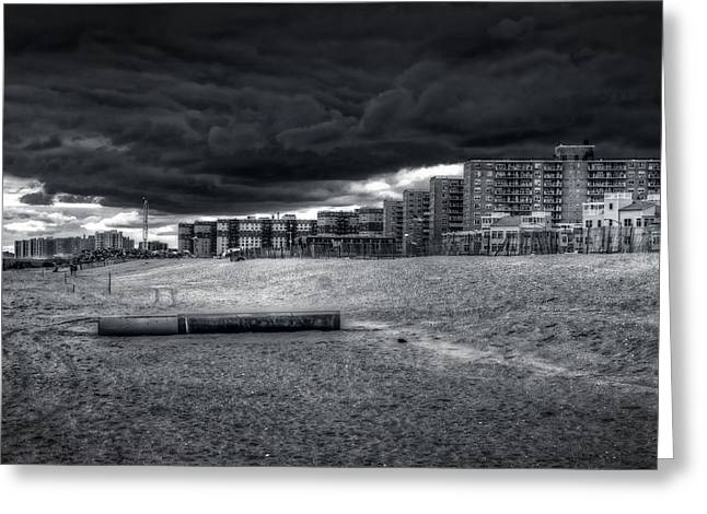 York Beach Greeting Cards - Hell On Earth Greeting Card by Mike  Deutsch