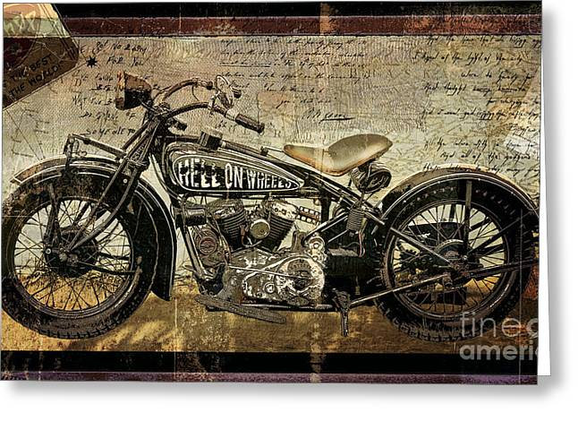 Anger Greeting Cards - Hell On Wheels Greeting Card by Mindy Sommers
