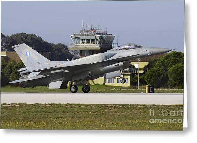 Traffic Control Greeting Cards - Hellenic Air Force F-16d Block 52 Greeting Card by Daniele Faccioli