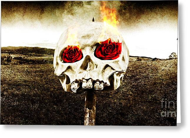 Hellfire Of Love Greeting Card by Jorgo Photography - Wall Art Gallery