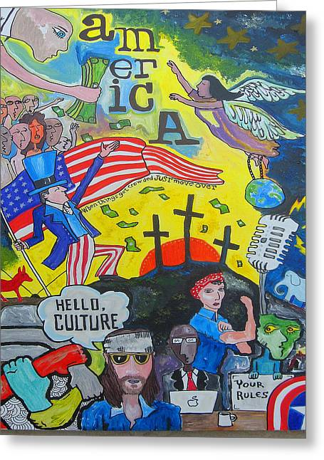 Republican Greeting Cards - Hello Culture Greeting Card by Christopher  Taylor