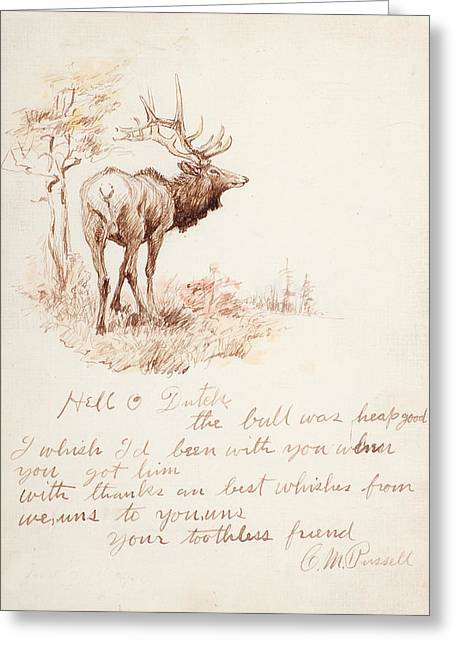Pen And Paper Greeting Cards - Hello Dutch Greeting Card by Charles M Russell