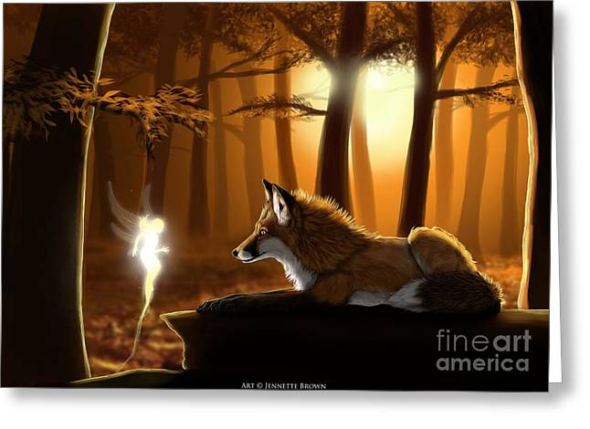 Vixen Digital Greeting Cards - Hello Friend Greeting Card by Jennette Brown