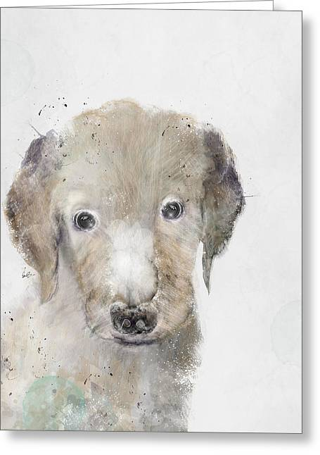 Puppies Digital Greeting Cards - Hello Little Labrador Greeting Card by Bri Buckley