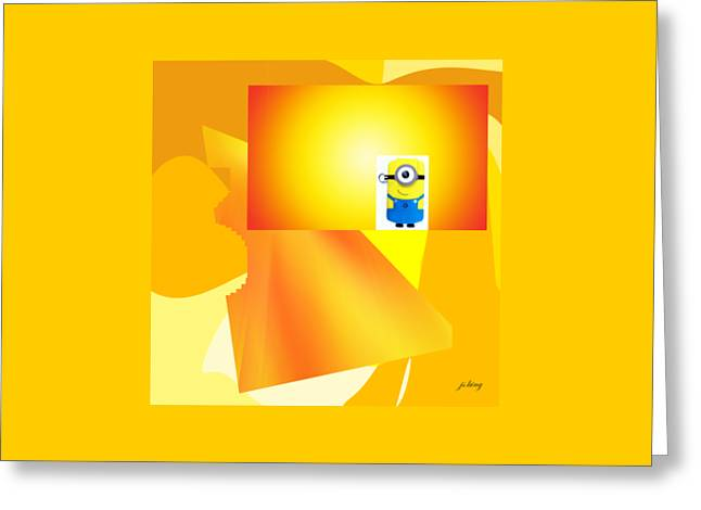 Shades Of Red Greeting Cards - Hello Yellow Greeting Card by Jacquie King