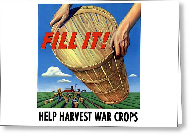 Help Harvest War Crops Greeting Card by War Is Hell Store