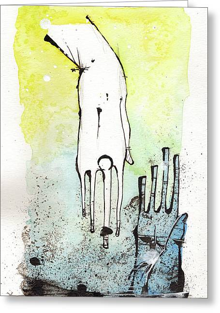 Hands Mixed Media Greeting Cards - Help Greeting Card by Mark M  Mellon
