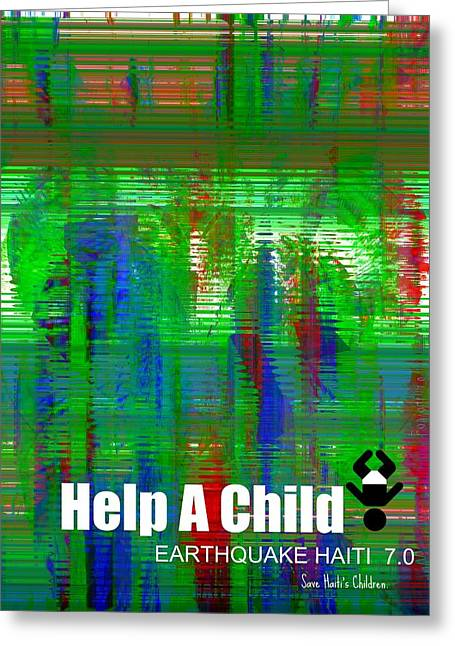 Help Save An Orphan Greeting Card by Fania Simon