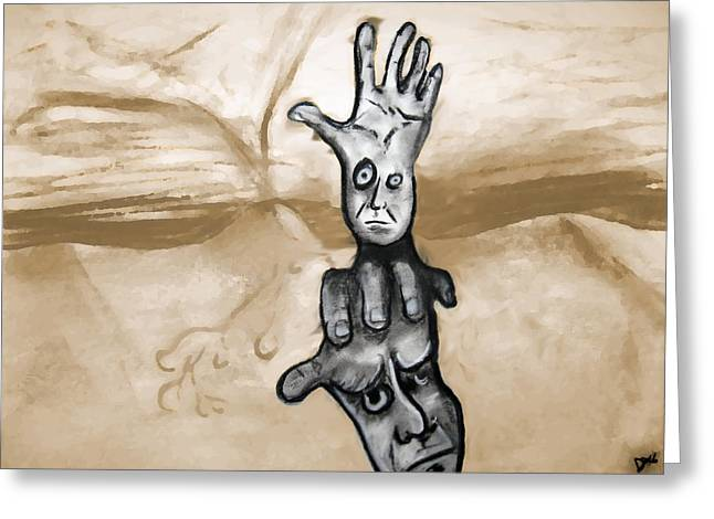 Helping Hand Greeting Card by Jacob Smith