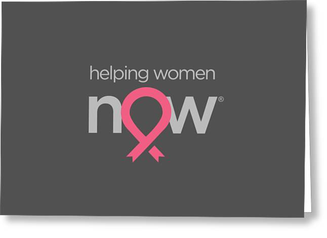 Helping Women Now Pink Greeting Card by National Breast Cancer Foundation
