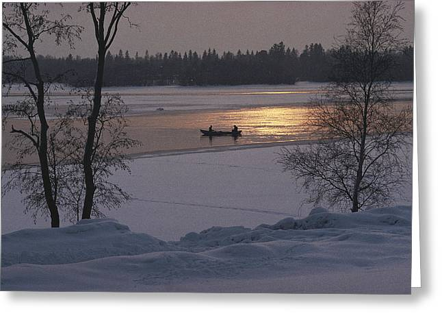 Tranquil Scene Escapism Greeting Cards - Helsinki, Finland. People Sitting Greeting Card by Keenpress