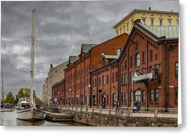 Docked Sailboats Greeting Cards - Helsinki Harbor Greeting Card by Capt Gerry Hare