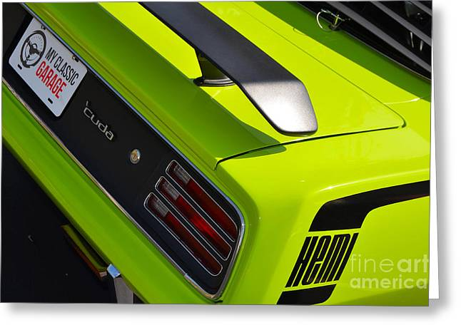 Mopar Greeting Cards - Hemi Cuda Muscle Greeting Card by Mark Spearman