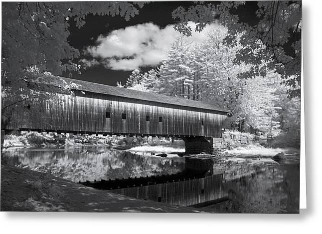 Saco River Greeting Cards - Hemlock Covered Bridge Greeting Card by James Walsh