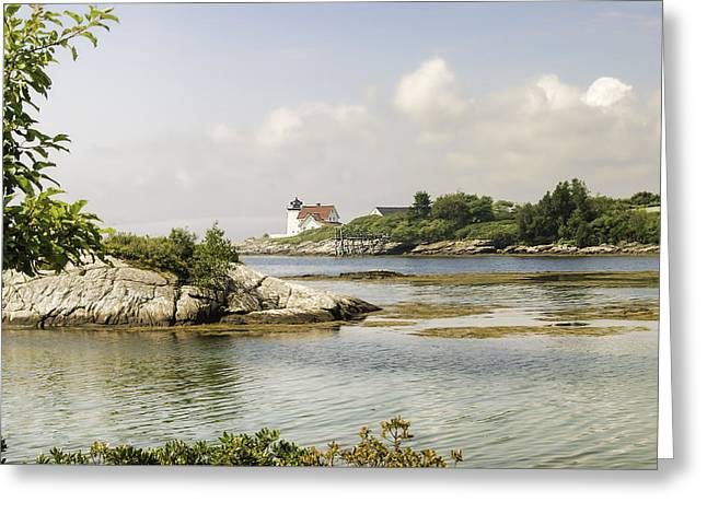 Recently Sold -  - Maine Lighthouses Greeting Cards - Hendricks Head Lighthouse Greeting Card by Phyllis Taylor
