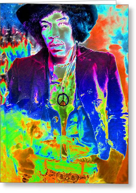 Hendrix Greeting Card by David Lee Thompson