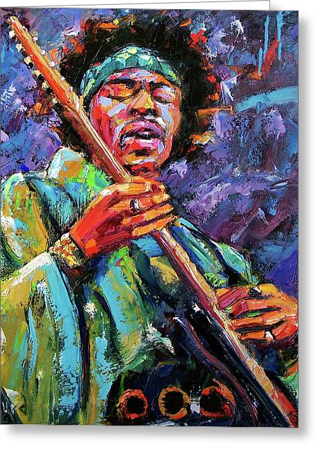 Hendrix Greeting Card by Debra Hurd