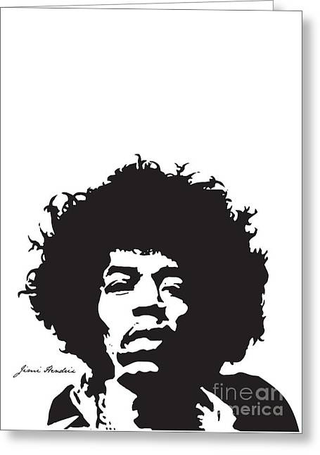 Rock N Roll Greeting Cards - Hendrix No.01 Greeting Card by Caio Caldas