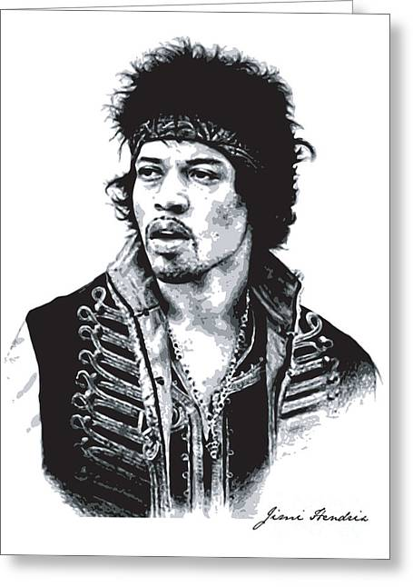 Hendrix No.02 Greeting Card by Unknow