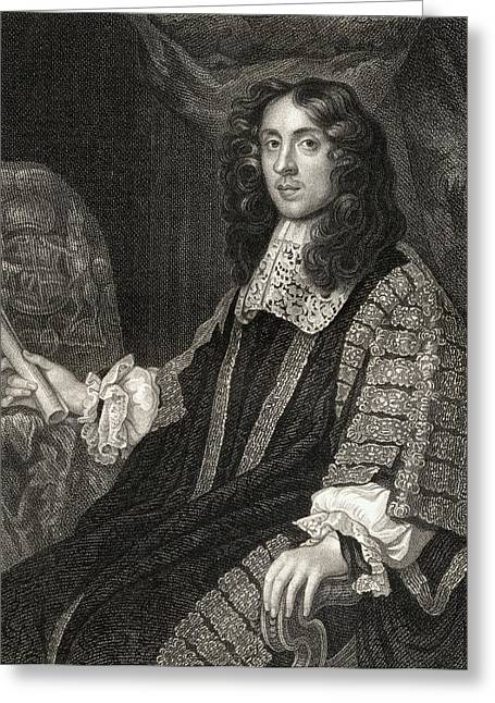Chancellor Drawings Greeting Cards - Heneage Finch 1st. Earl Of Greeting Card by Ken Welsh