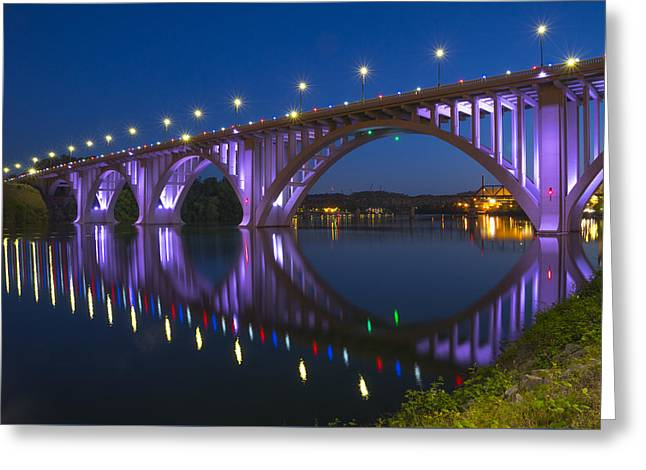 Henley Bridge In Knoxville Tn Greeting Card by Mike McGlothlen