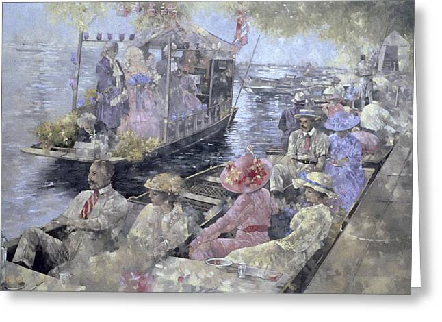Lounge Paintings Greeting Cards - Henley Regatta Greeting Card by Peter Miller