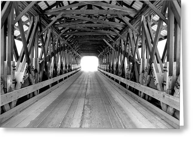 Henniker Covered Bridge Greeting Card by Greg Fortier