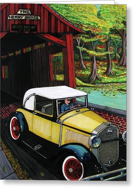 Covered Bridge Greeting Cards - Henry Bridge Greeting Card by Bob Crawford