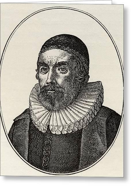 Burton Greeting Cards - Henry Burton, 1578 To 1648. English Greeting Card by Ken Welsh
