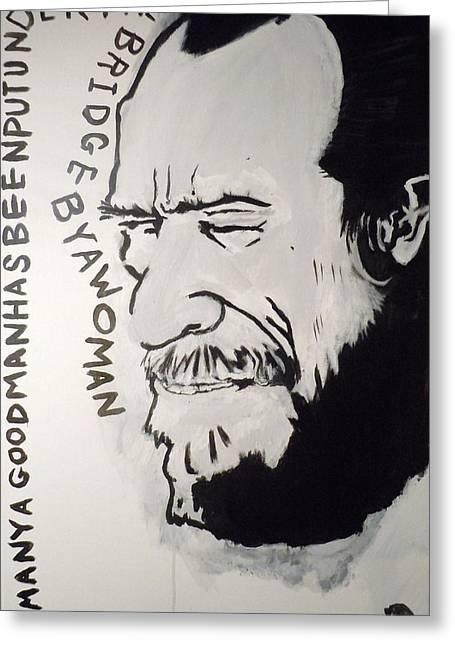 Bukowski Greeting Cards - Henry Chinaski Greeting Card by B T