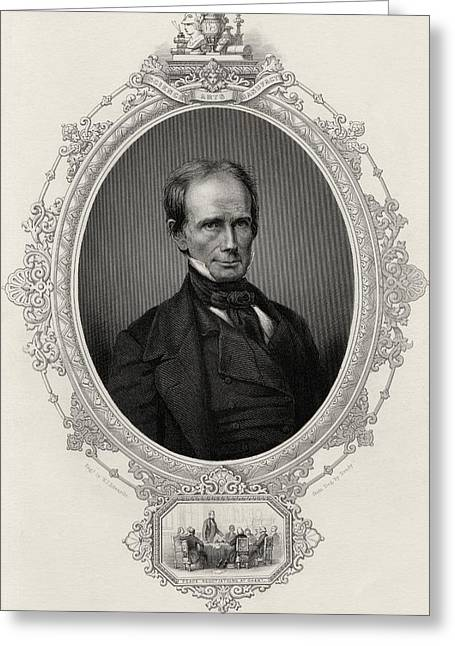 Orator Greeting Cards - Henry Clay 1777-1852 American Statesman Greeting Card by Ken Welsh